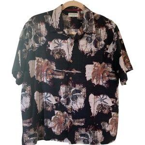 Caribbean Hawaiian Shirt  100% Silk  XL